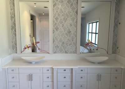 Ensuite Vanity & Backsplash Marble